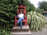 J9 in big chair