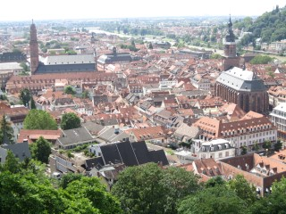 Heidelberg from Castle