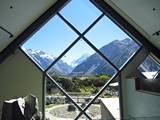 mt cook from visitor centre
