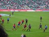 NZ Sevens team in action at the first day of the London Sevens 2005