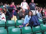 At the London Sevens - Rugby Guy, Graduation Bear (GB), NZ Tourist and sundry visitors from Hounslow