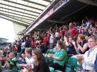 Kenyans having a wonderful time at the london sevens