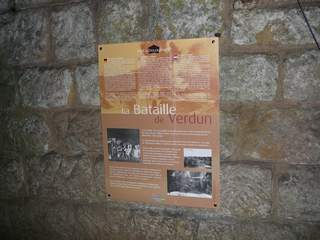 Memorial plaque in fortress
