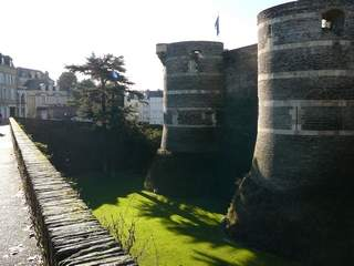 Castle walls of Château d'Angers is a castle in the city of Angers in the Loire Valley