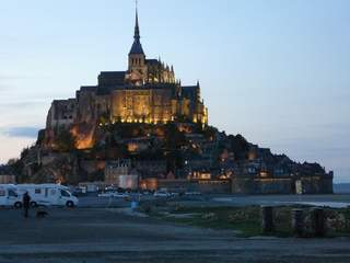 Mont St Michel in the twilight