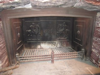 Fireplace at Eagle's Nest