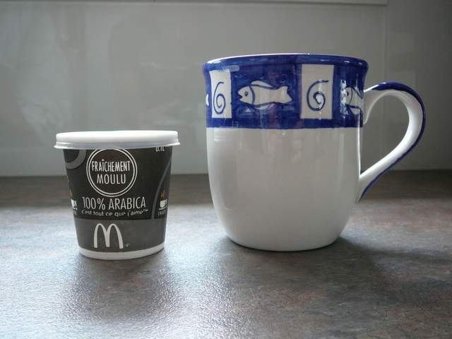 McDonalds espresso cups and our breakfast cup